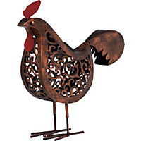 Rustic Chicken Solar Light