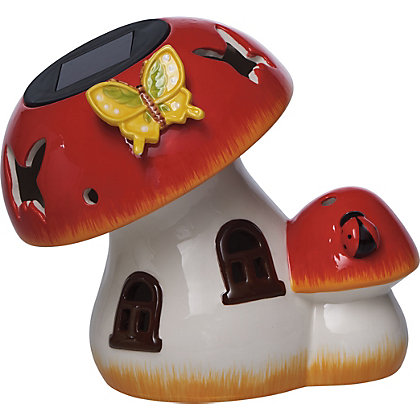 Image for Ceramic Toad Stool Solar Light from StoreName