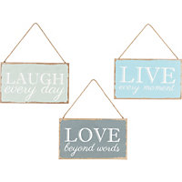 Heart of House Wooden Word Plaque