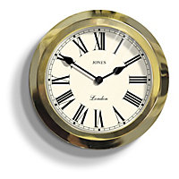 The Parker Wall Clock - Polished Brass