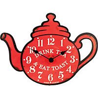 Teapot Red Wall Clock