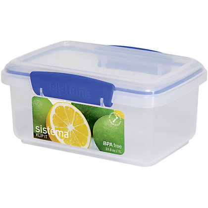 Image for Sistema Rectangular Food Storage - 1L from StoreName