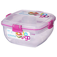 Sistema 1.1L Salad To Go Tubs - Assorted Colours