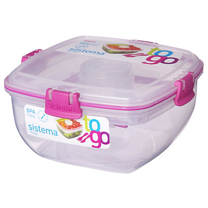 Image for Sistema 1.1L Salad To Go Tubs - Assorted Colours from StoreName