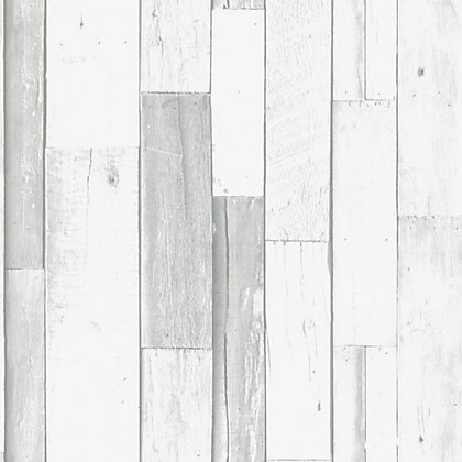Image for Superfresco Easy Paste the Wall White Plank Wallpaper from StoreName