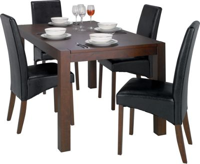 Wood dining room furniture for Dining room tables homebase