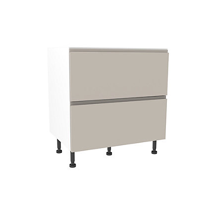 Image for Simply Hygena Kensal - Cashmere - 800mm Premium Pan Drawer Base Unit & Internal Drawer from StoreName