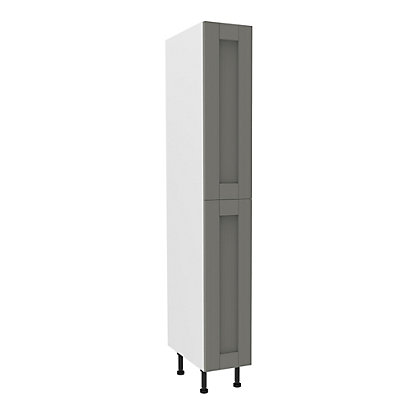 Image for Simply Hygena Southfield Grey Larder with Pull Out - 300mm from StoreName