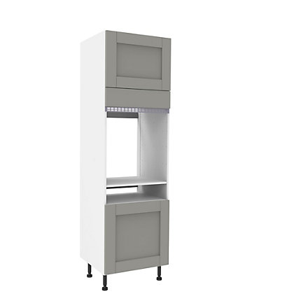 Image for Simply Hygena Southfield - Grey - 600mm & 150mm Single Oven & Warming Drawer Appliance Unit from StoreName