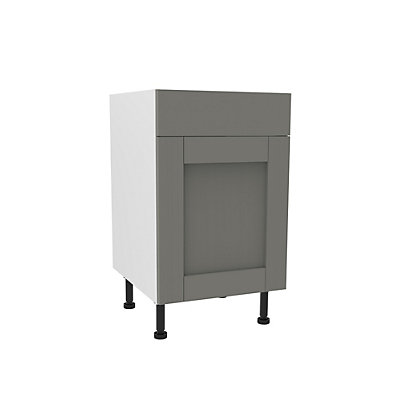 Image for Simply Hygena Southfield - Grey - 500mm Dummy Drawer Line Base Unit from StoreName