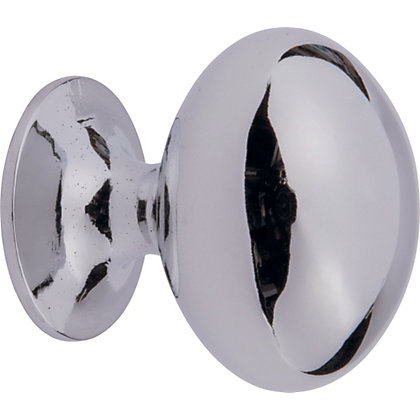 Image for Oval Door Knob - Polished Chrome from StoreName