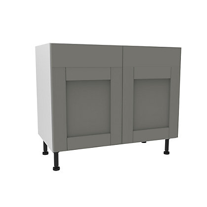 Image for Simply Hygena Southfield - Grey - 1000mm Dummy Drawer Line Base Unit from StoreName