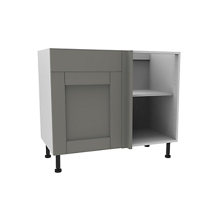 Image for Simply Hygena Southfield - Grey - 1000mm Premium Drawer Line Corner Base Unit from StoreName