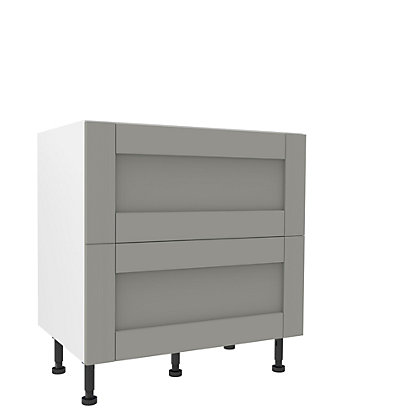 Image for Simply Hygena Southfield - Grey - 800mm Premium 2 Drawer Pan Base Unit from StoreName
