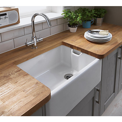 Image for Simply Hygena Southfield - Grey - 600mm Belfast Under Sink Unit from StoreName
