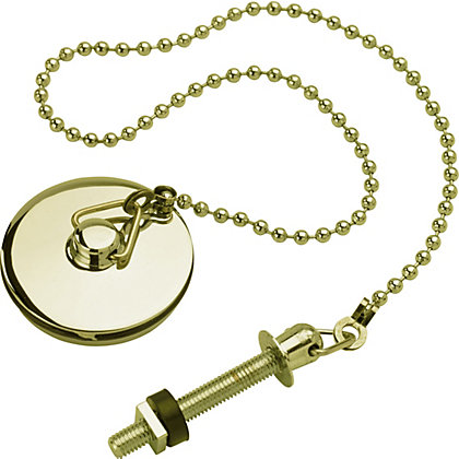 Image for Basin Plug With Chain And Stay Gold Effect from StoreName