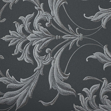 Image for Graham & Brown Oxford Black & Grey Wallpaper from StoreName