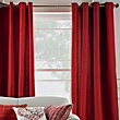 Hudson Jacquard Eyelet Curtains - Cranberry 66 x 90in