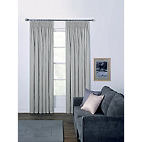 Moreton Twill Pencil Pleat Curtains - Putty 66 x 54in