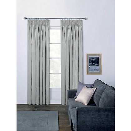 Image for Moreton Twill Pencil Pleat Curtains - Putty 66 x 54in from StoreName