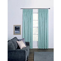 Moreton Twill Pencil Pleat Curtains - Duck Egg 66 x 54in