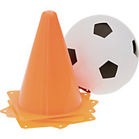 Plastic Football and Cone Set