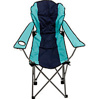 Blue Padded Folding Camping Chair