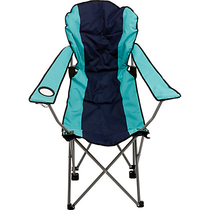 Image for Blue Padded Folding Camping Chair from StoreName