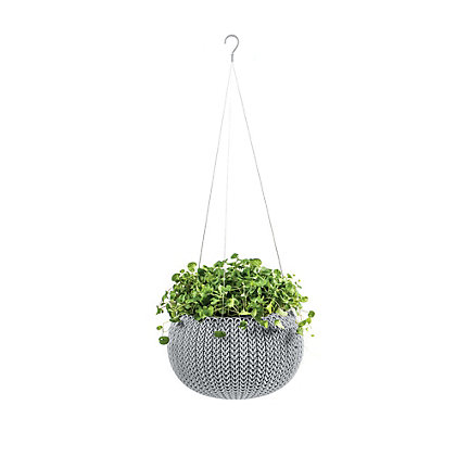Image for Cozie Cloudy Grey Plastic Hanging Basket - Large from StoreName