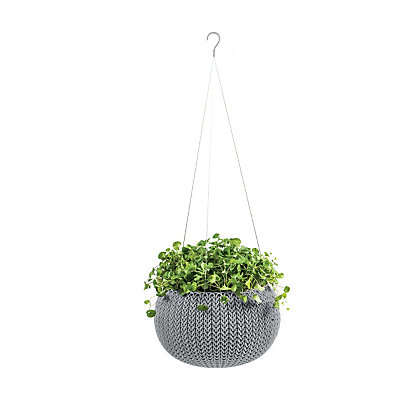 Image for Cozie Plastic Hanging Basket in Cloudy Grey - Small from StoreName