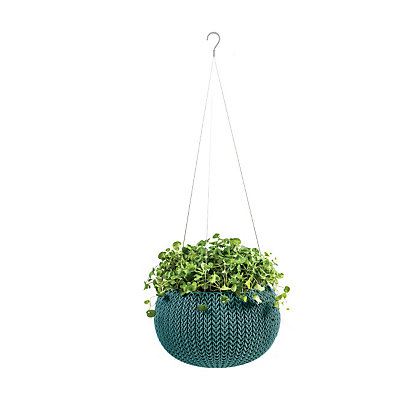 Image for Cozie Plastic Hanging Basket in Smoked Blue - Small from StoreName