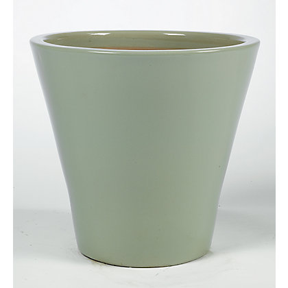 Image for Retreat Meadow Glazed Ceramic Planter - Green from StoreName