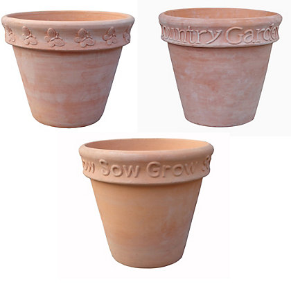 Image for Heritage Terracotta Garden Pot - 3 Designs Available from StoreName