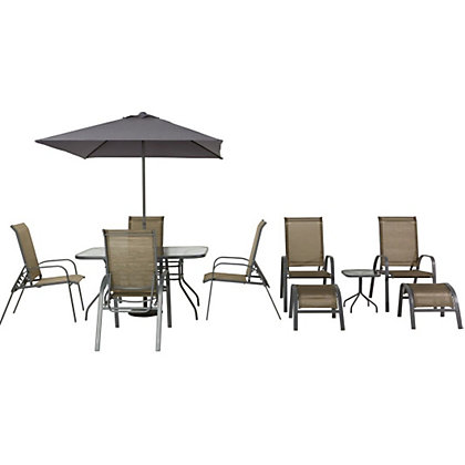 Andorra Bronze Metal 11 Piece Garden Furniture Set Home