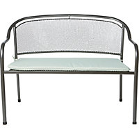 Ontario Metal Garden Bench with Cushion - Home Delivery