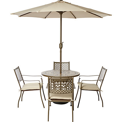 Image for Tuscany 4 Seater Mosaic Metal Garden Furniture Set from StoreName