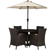 Panama 4 Seater Rattan Garden Furniture Set - Collect in Store