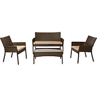 Mali Rattan Effect Coffee Set - Home Delivery