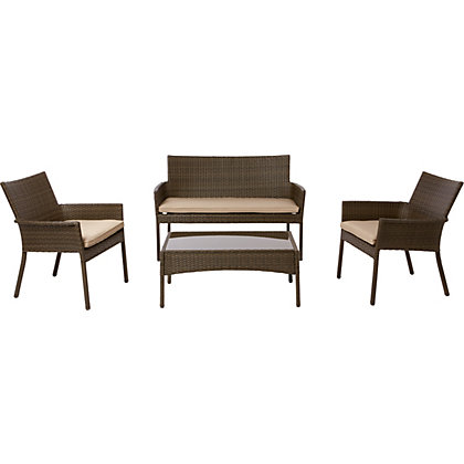 Image for Mali Rattan Effect Coffee Set - Home Delivery from StoreName