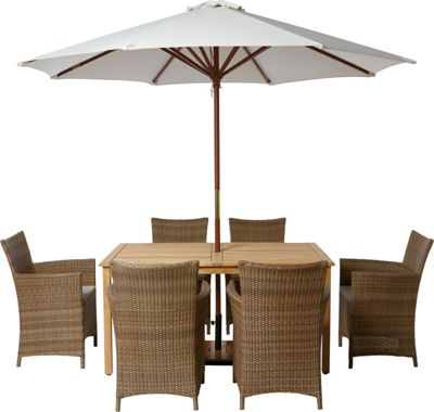Samara Rattan Effect 6 Seater Garden Furniture Set Home Delivery