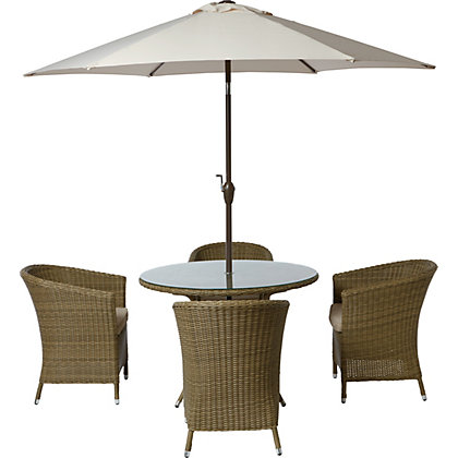Image for Worcester 4 Seater Rattan Effect Garden Furniture Set from StoreName