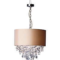 Schreiber Wedmore Shade with Crystal Droplets - Grey