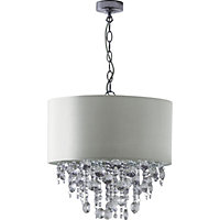 Schreiber Wedmore Shade with Crystal Droplets - Cream