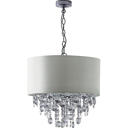 Image for Schreiber Wedmore Shade with Crystal Droplets - Cream from StoreName
