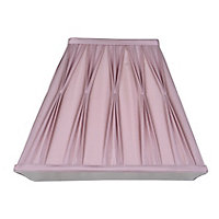 Silk Square Pleated 20cm Shade DuskyPlum