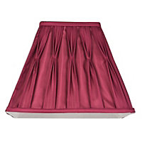 Schreiber Square Pleated 20cm Shade - Cranberry