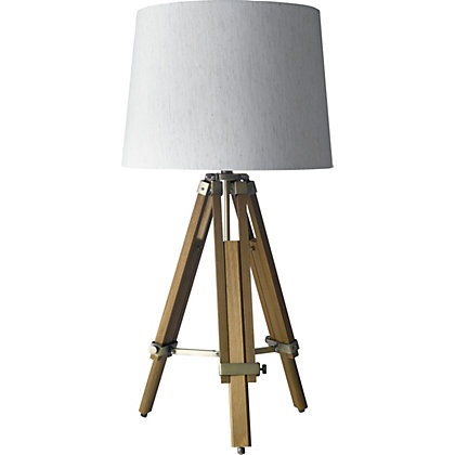 table lamps bedside tripod glass table lamps homebase. Black Bedroom Furniture Sets. Home Design Ideas