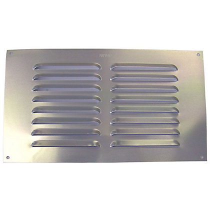 Image for Louvre Vent - Satin Silver Aluminium - 229x152mm from StoreName