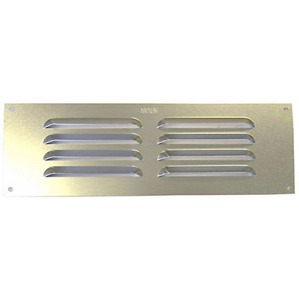Image for Louvre Vent - Satin Silver Aluminium - 229x76mm from StoreName