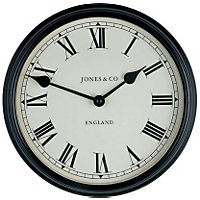 Jones Piccadilly Wall Clock - Black
